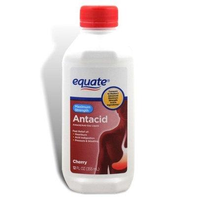 Equate - Antacid/Anti-Gas Liquid - Maximum Strength, Cherry Flavor, 12 fl oz
