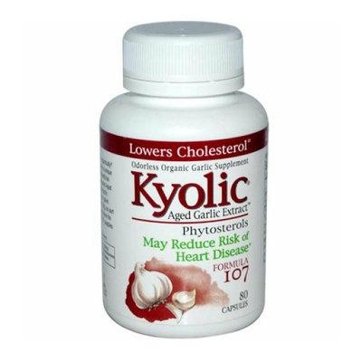 Kyolic Aged Garlic Extract Phytosterols Formula 107 80 Capsules