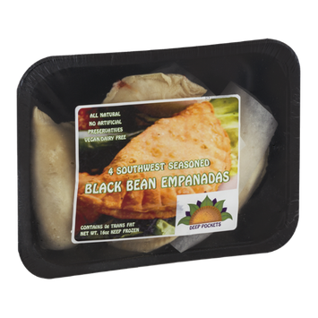 Deep Pockets Black Bean Empanadas Southwest Seasoned - 4 CT
