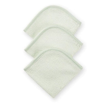 American Baby Company 3-Pack 100% Cotton Terry Washcloth Set, Celery