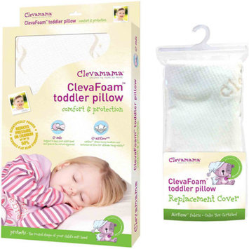 Clevamama Foam Toddler Pillow & Replacement Pillow Cover, 1 ea