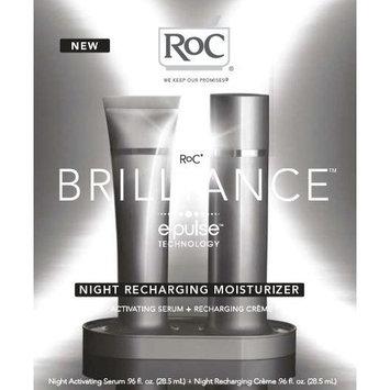 RoC BRILLIANCE Night Recharging Moisturizer, Activating Serum & Recharging Creme