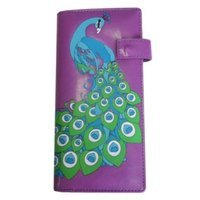 Okitani Peacock Wallet Clutch Women Purple