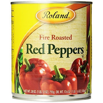 Roland Fire Roasted Red Peppers, 28-Ounce Cans (Pack of 4)
