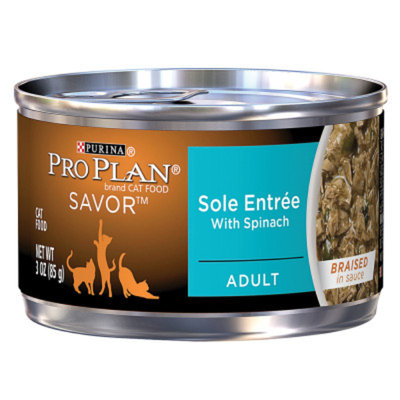 PRO PLAN® SAVOR® ADULT Sole Entree With Spinach