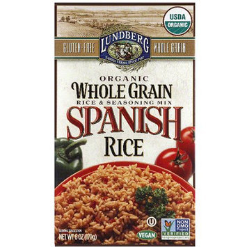 Lundberg Family Farms Whole Grain Spanish Rice & Seasoning Mix, 6 oz, (Pack of 6)