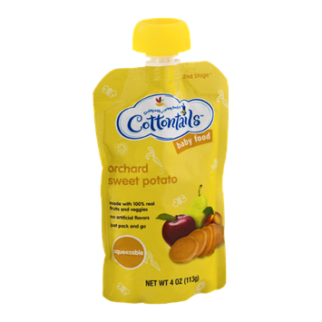 Cottontails 2nd Stage Squeezable Baby Food Orchard Sweet Potato