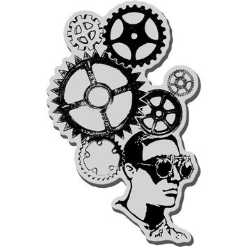 Stampendous Inc Stampendous Cling Rubber Stamp-Gear Head