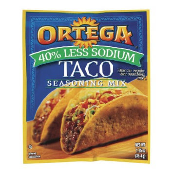 Ortega 40% Less Sodium Taco Seasoning Mix 1.25-oz.