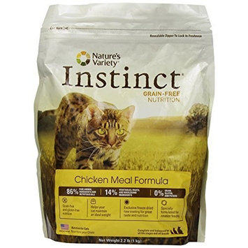 Instinct Grain Free Instinct Grain-Free Chicken Meal Dry Cat Food by Nature's Variety, 2.2-Pound Package
