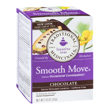 Traditional Medicinals Laxative Teas Organic Smooth Moves Chocolate Tea Bags - 16 CT