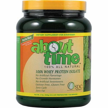 About Time Whey Protein Isolate Mocha Mint 2 lbs