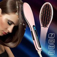 Apalus Brush Hair Straightener, Instant Magic Silky Straight Hair Styling, Anion Hair Care, Anti Scald, Zero Damage, Massage Straightening Irons, Detangling Hair Brush