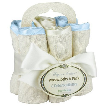 Bumkins Organic Washcloth 6- Pack, Blue