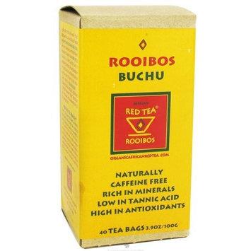 African Red Tea Imports Rooibos Buchu -- 40 Tea Bags