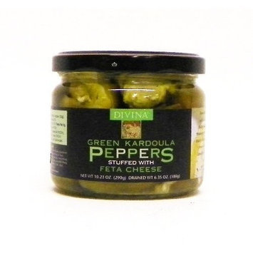 Divina Green Kardoula Peppers Stuffed w/ Feta Cheese 6.35 oz
