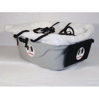 FidoRido Products FRT2W-LL Tan Two-Seater with White Fleece and Two Large Harnesses