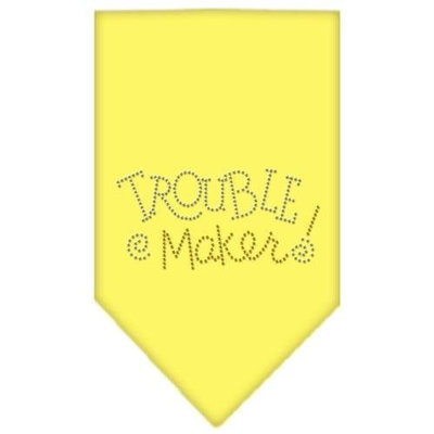 Mirage Pet Products 6778 LGYW Trouble Maker Rhinestone Bandana Yellow Large