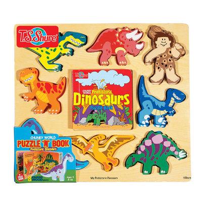 Shure Chunky World Dinosaur Puzzy Book (8 pc)
