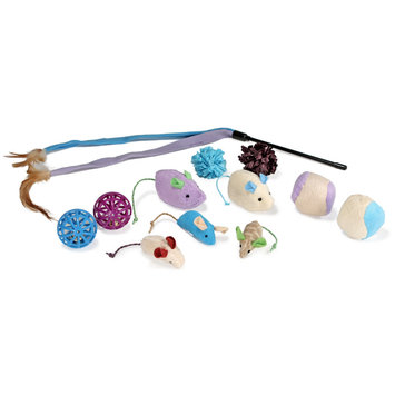 E & B Giftware SmartyKat CritterPack Cat Toy Variety Pack - 12 Count