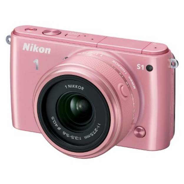 Nikon 1 S1 10.1MP Digital Camera with 11-27.5mm Lens - Pink