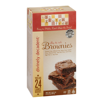 123 Gluten Free Divinely Decadent Silky & Rich Brownies - 24 CT