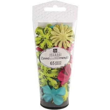 Prima Marketing, Inc. Prima Flowers Petal Palette Handmade Paper Flowers 65-piece - Assorted