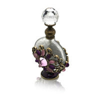 Welforth Perfume Bottle (Floral with Pink and Purple Rainstone)