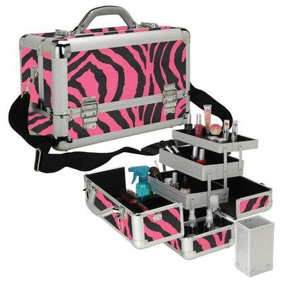Seya Professional 3-Tier Makeup Case Color: Pink Zebra