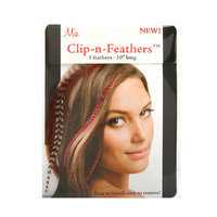Mia Clip-In-Feathers Ginger