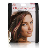 Mia Clip-In-Feathers Brown
