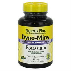 Dyno-Mins Potassium 99mg by Nature's Plus 90 Tabs
