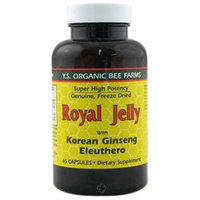 Ys Royal Jelly/honey Bee YS Eco Bee Farms Royal Jelly with Korean Ginseng and Eleuthero - 65 Capsules