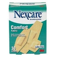 Nexcare comfort fabric bandages, assorted, 30 each
