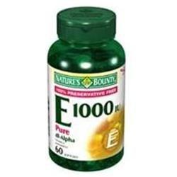 Tures Bounty Multivitamin Nature's Bounty Vitamin E 1,000 IU Pure dl-Alpha Softgels