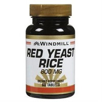 Windmill Red Yeast Rice 600 mg Dietary Supplement Tablets