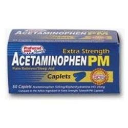 Acetaminophen Pain Reliever Acetaminophen Pm Extra Strength Caplets - 50 Ea
