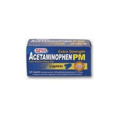 Acetaminophen Pain Reliever Acetaminophen Pm Extra Strength Caplets - 50 Ea