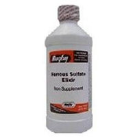 Rugby Vitamins Ferrous Sulfate Elixir Iron Supplements By Rugby Laboratories - 16 Oz