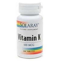 Solaray Vitamin K 100 mcg, 100 ea
