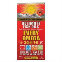 Renew Life Formulas(r) Norwegian Gold Ultimate Fish Oils Every Omega