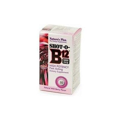 Nature's Plus Shot-O-B12 5000mcg, Wild Berry 30 lozenges