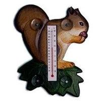 Bobbo Inc BOBBO2174005 Squirrel - Leaf Thermometer Small