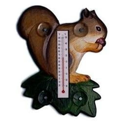 Bobbo Inc BOBBO2174005 Squirrel - Leaf Thermometer Small