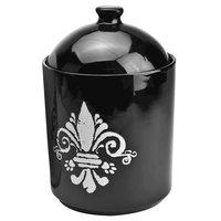 Housewares International Tara Reed Designs Fleur De Lis Black/ White Pet Canister and Pet Bowl