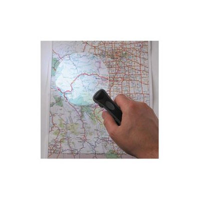 Drive Medical Rimless Magnifier Lens in Black with LED Light