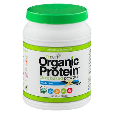 Orgain Organic Vanilla Bean Plant Based Protein Powder - 16.32 oz