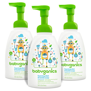 Babyganics Dish and Bottle Soap Fragrance Free 16oz (3pk)