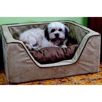 O'donnell Industries Snoozer Luxury Square Dog Bed with Memory Foam Black/Herringbone, Size: Medium