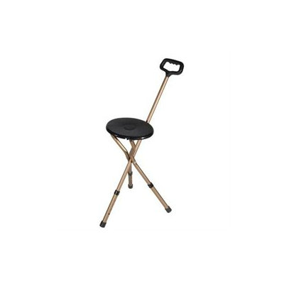 Drive Medical Bronze Adjustable Height Folding Lightweight Cane Seat